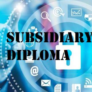 Subsidiary Diploma in IT