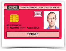 Red CSCS Trainee card