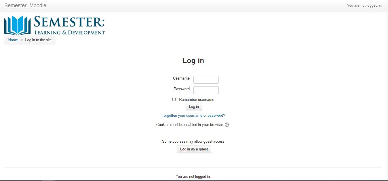 Semester Online Moodle Portal