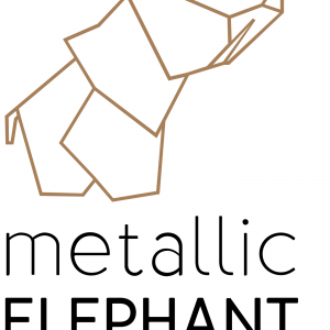 metallic elephant logo